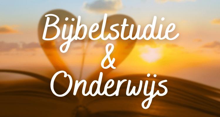 Bijbelstudie Onderwijs